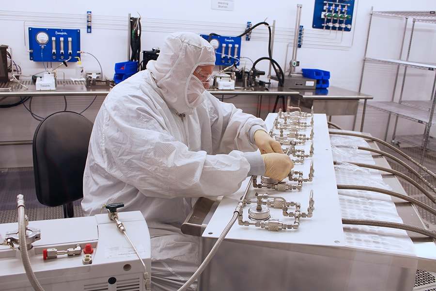 Swagelok Clean Room UHP Panel Assembly